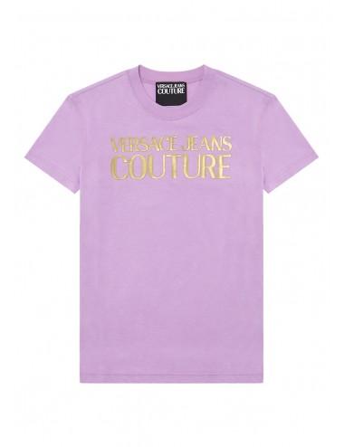 T-shirt rosa con logo...