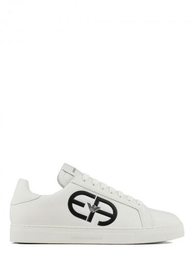 Sneakers bianca con maxi...