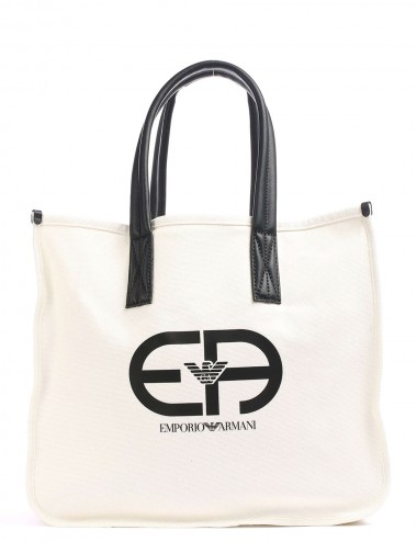 Shopper in canvas con logo
