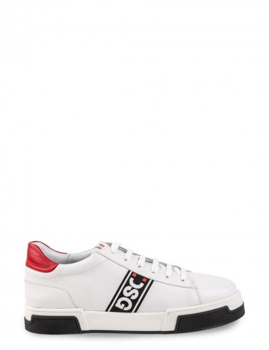 Sneakers David White-Red