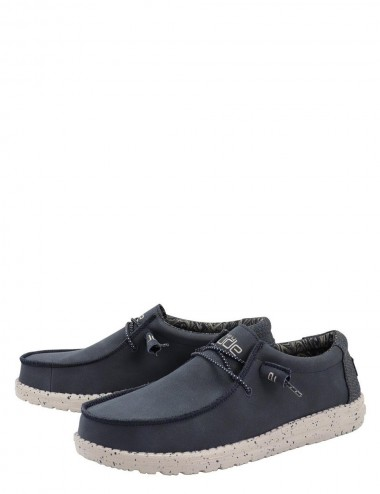 Wally Recycled Leather Navy