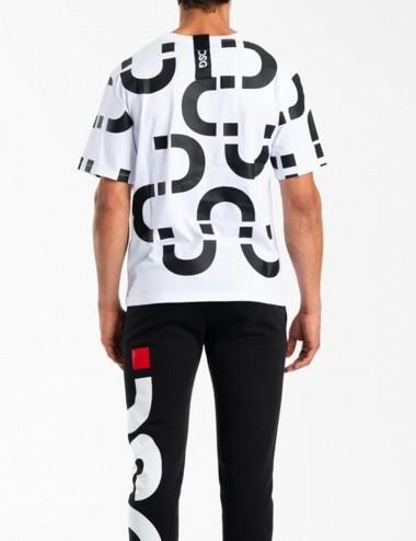 T-shirt Chain Tee White Black