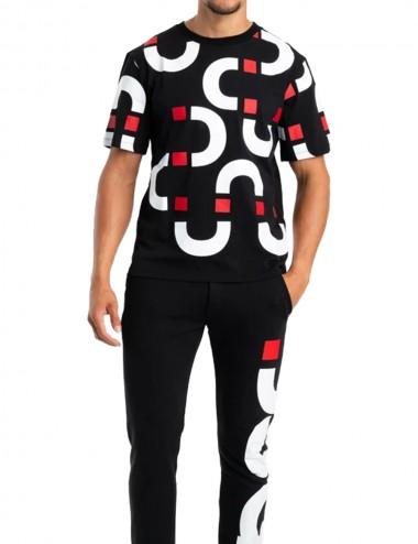T-shirt Chain Tee Black White