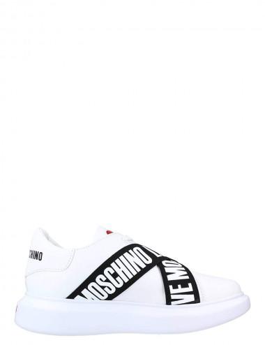 Sneakers in Vitello Black Band
