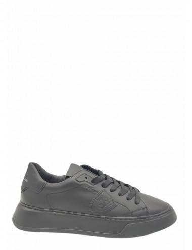 Sneakers Temple Veau Noir Noir