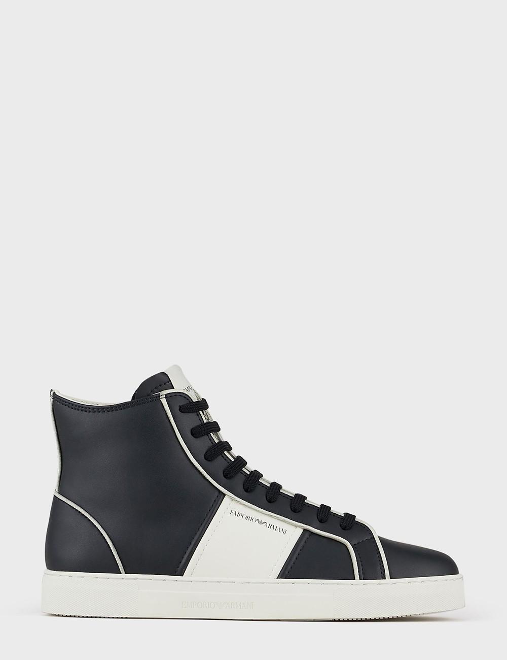 Sneakers high-top in pelle...