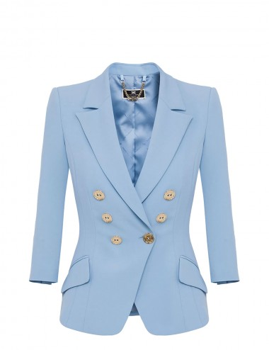 Giacca in crepe baby blue