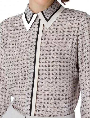 Camicia con stampa cravatta...