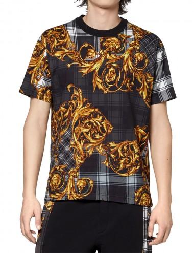 T-shirt con stampa Tartan...