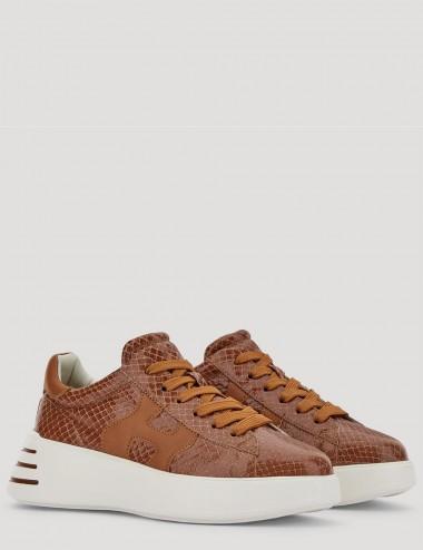 Sneakers Hogan Rebel marroni
