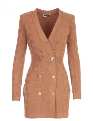 Robe manteau con pattern...