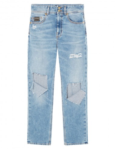 Jeans strappati a gamba dritta