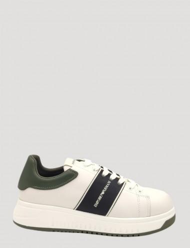 Sneakers in pelle con banda...