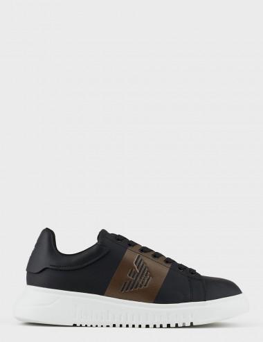 Sneakers in twill con...
