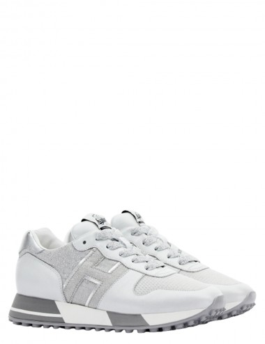 Sneakers H383 Bianco Argento