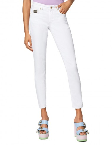 Jeans skinny con motivo...